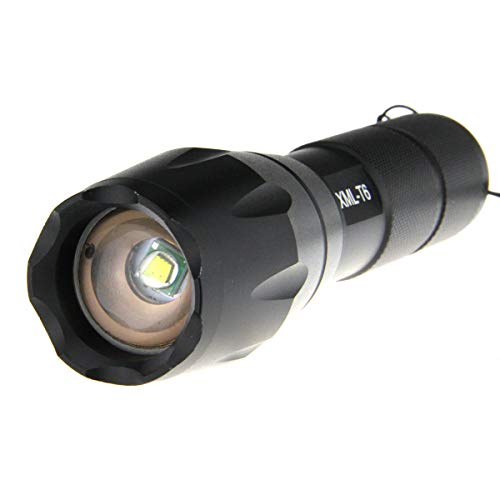 2000 Lumen Cree XML T6 Zoomable LED Flashlight Focus Zoom Light Torch 18650/aaa