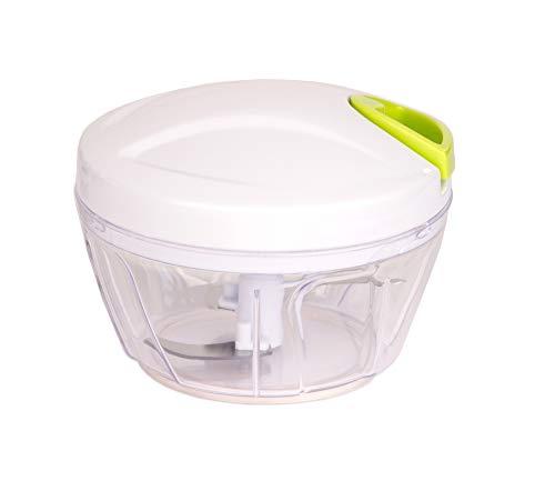 BigDean Multi-Zerkleinerer mit Seilzug 400 ml manuell ohne Strom schneiden in Sekunden Gemüseschneider Zwiebelschneider Multi-Schneider für Zwiebeln, Gemüse und Obst