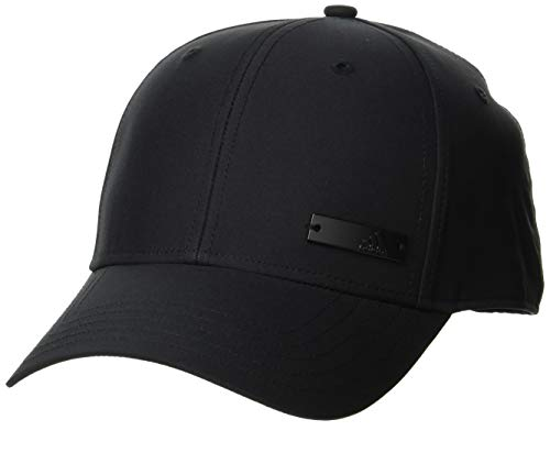 adidas Unisex-Adult Baseball Lightweight Metal Badge Cap, Black/Black/Black, OSFL
