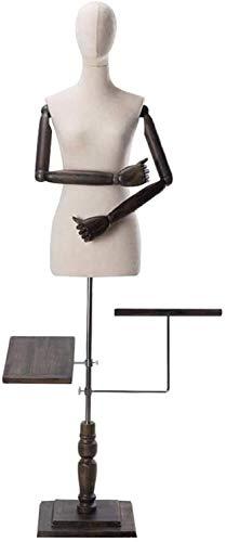 YZJL Maniquí a Medida Torso Blanco con Zapatos, Pantalones, exhibición de Joyas, maniquíes de Altura ajustablemaniquí