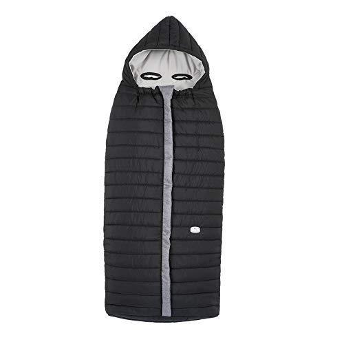Chicco - Saco cálido universal para silla de paseo impermeable con bolsa para guardar, color negro (Pure Black)