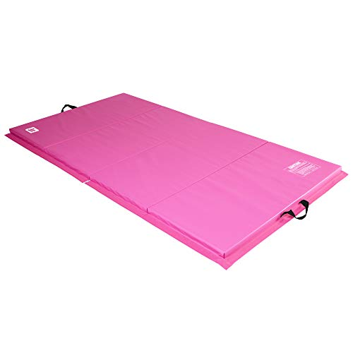 We Sell Mats 4 ft x 8 ft x 2 in Personal Fitness & Exercise Mat, Lightweight and Folds for Carrying, Pink