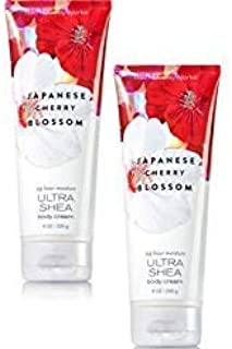 Bath and Body Works 2 Pack Japanese Cherry Blossom Ultra Shea Body Cream 8 Oz.