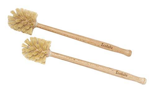 ECOLULU Eco Friendly Toilet Brush, 2 Pack Wood Toilet Brush Made of...