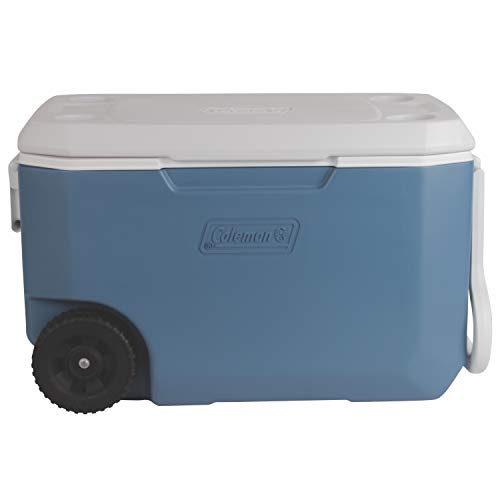 Coleman Unisex's Xtreme 5-Day Heavy-Duty Cooler with Wheels, Blue/White, 62-Quart