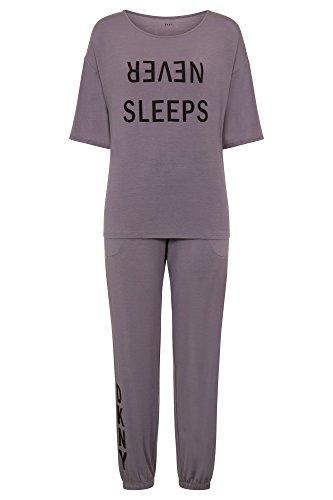 DKNY Never Sleeps 3/4 Sleeve Top Pyjama Set in Pink OR Grey (YI2919302)