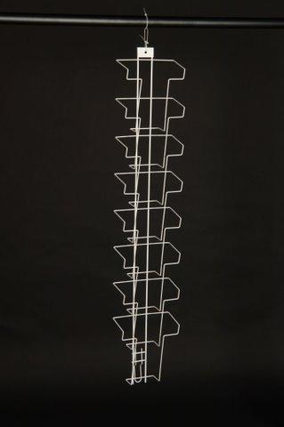 DPS Shopfitting Prospekthalter A4 mit 8 Fächern für Wandmontage