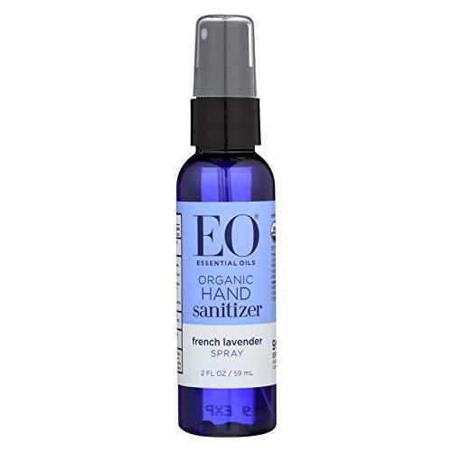 EO Organic Lavender Hand Sanitizer Spray, 2 Fl Oz (Pack of 6)