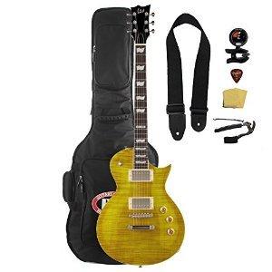Cheap ESP LTD EC-256FM Lemon Drop Electric Guitar with Gig Bag and Accessories Black Friday & Cyber Monday 2019