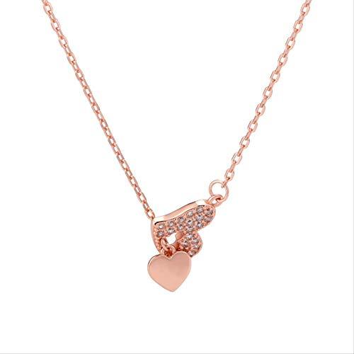 LFWQ S925 halsketting zilver liefde Claclaxe dames in hartvorm boormachine compleet voor het verzenden van je vriendin