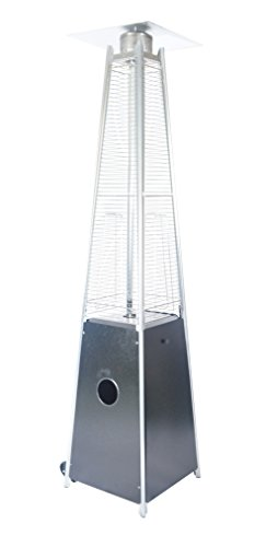 Legacy Heating Quartz Glass Tube Patio Flame Heater, Hammered Black