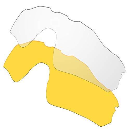 HKUCO Plus Replacement Lenses for Oakley Radar EV Path Sunglasses Transparent/Transparent Yellow Polarized