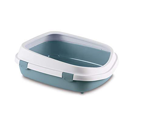 Stefanplast 4-96851 WC Gatti Queen, 55 x 24,5 x 71 cm, colore: bianco e blu pastello