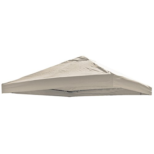 Universal Ersatz Dach für Pavillon 3x3 M Farbe Beige Wasserdicht PVC beschichtet 220gr. Polyester mit Luftluke