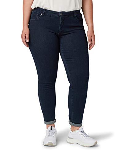 TOM TAILOR MY TRUE ME Damen Jeanshosen Skinny Jeans Dark dye Blue Denim,48