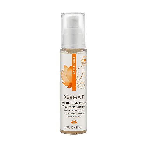 Derma E Acne Blemish Control Treatment Serum with Salicylic Acid, Tea Tree Oil Willow Bark Fight Against Blackheads Breakouts Cystic Acne