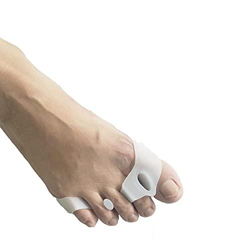 YLJJ Separadores y separadores de Dedos, Alivio rápido del Dolor de Dedos en Martillo y juanetes, estiradores de Dedos de Goma sin látex utilizados para la Noche (10 Pares)