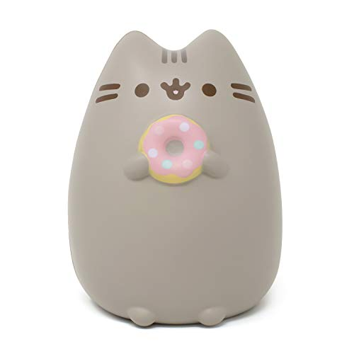 Hamee Pusheen Cat Slow Rising Cute Jumbo Squishy Toy (Bread Scented, 6.3 inch) [Birthday Gift Bags, Party Favors, Gift Basket Filler, Stress Relief Toys] - Pusheen with Donut