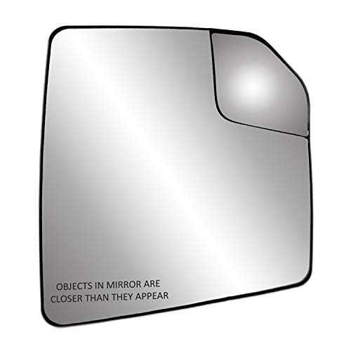 """Passenger Side Heated Mirror Glass w/Backing Plate, Ford F150, Adjustable spot Mirror, w/o Tow pkg, w/o auto dimming, w/o Blind spot Detection System, 7 15/16"""" x 7 3/16"""" x 9 1/2"""""""