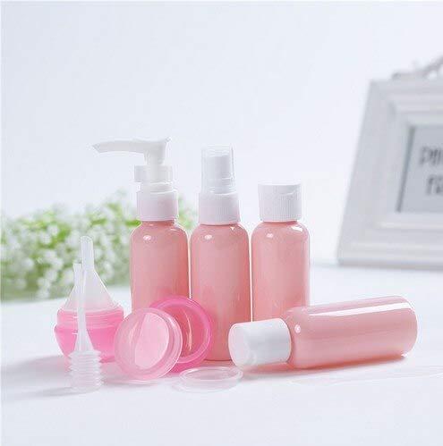 Lot de flacons de voyage rechargeables en plastique pour cosmétiques Rose