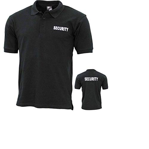 ProCompany Poloshirt, schwarz, Security, Bedruckt - XL