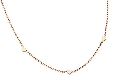 Cadena Fashion Line M17271 – Plata 925 chapada en oro rosa, 42 cm de largo