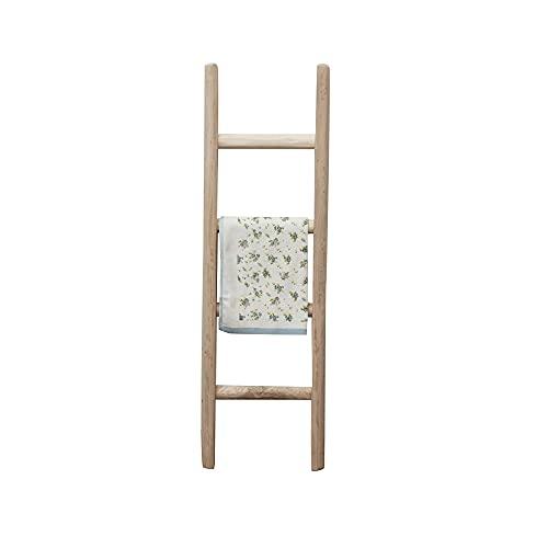 Biscottini Echelle décorative en bois vintage pour la chambre, la salle de bain et le salon - corde à linge - étagère - porte-serviettes - Support pour serviettes de toilette