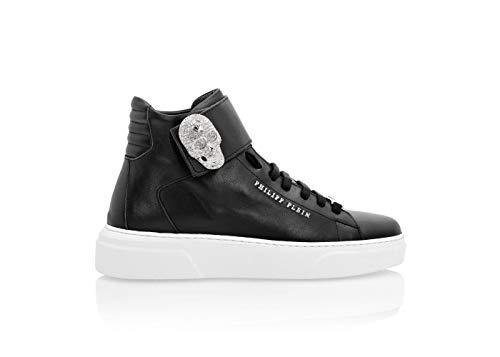 Philipp Plein High Top Sneakers Damen schwarz, Schwarz - Schwarz - Größe: 36 EU