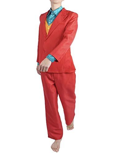 CoolChange Joker Kostüm von Arthur Fleck, Comic Verkleidung, Anzug, Weste, Hemd, Größe: M