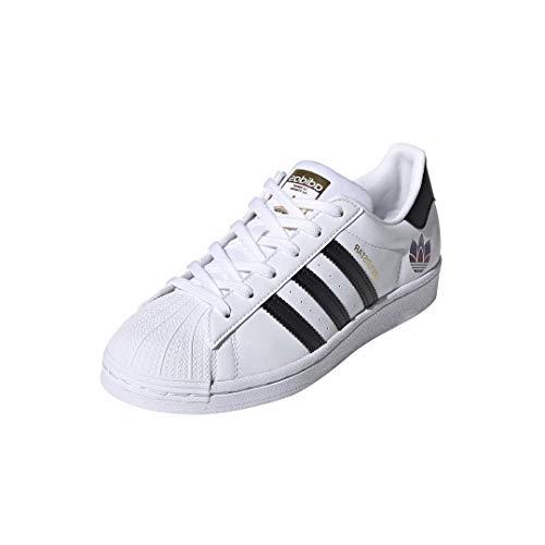 adidas Originals womens Superstar Sneaker, White/Black/Gold Metallic, 7.5 US