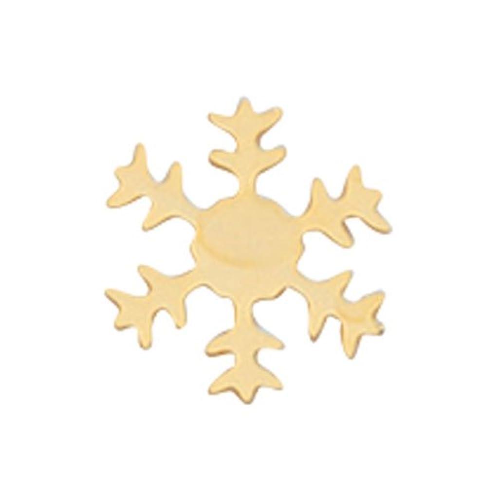 つば通常光電リトルプリティー ネイルアートパーツ スノーフレーク SS ゴールド 10個