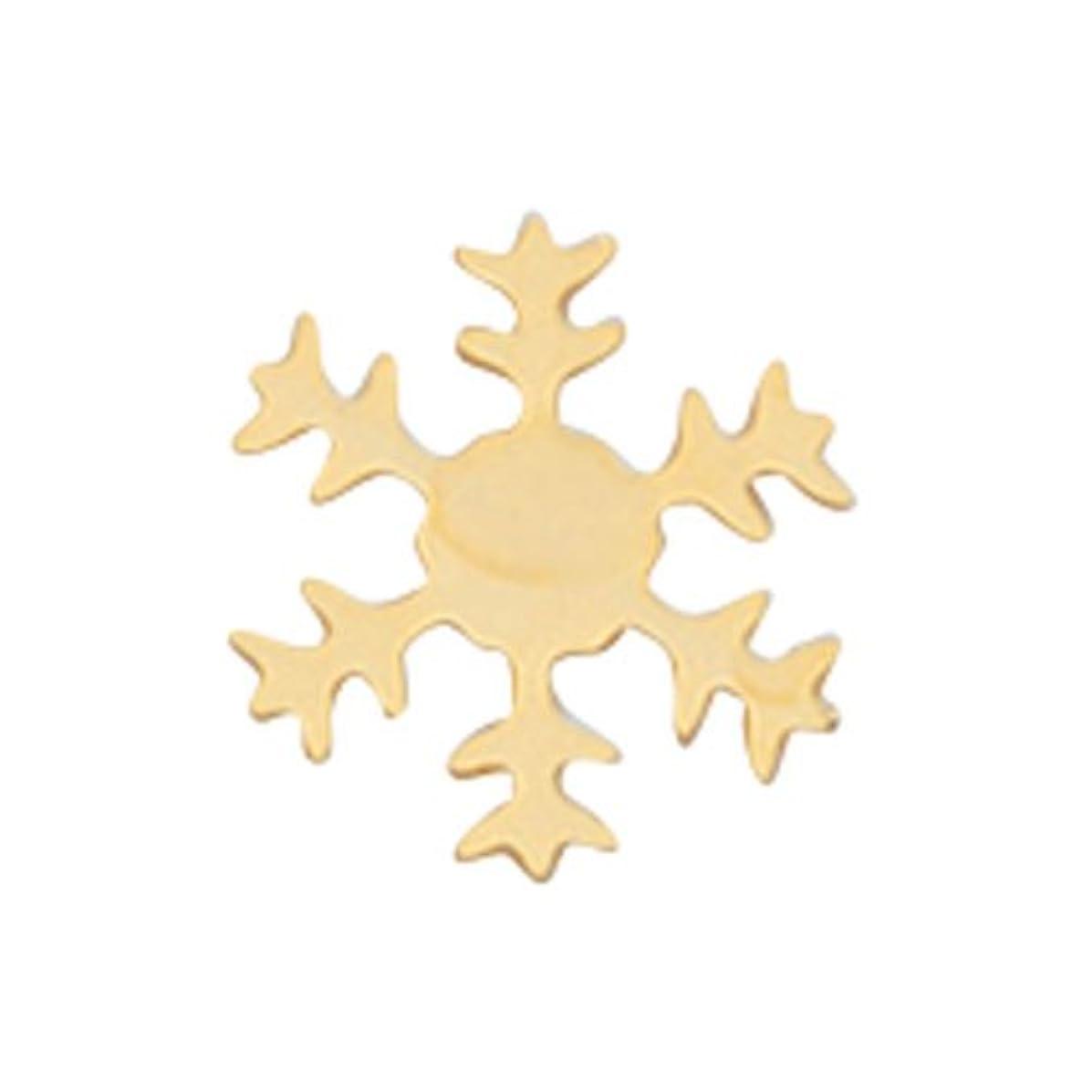 同行メモクルーズリトルプリティー ネイルアートパーツ スノーフレーク SS ゴールド 10個