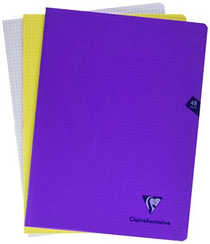 Clairefontaine 293312AMZC - Lote de 3 cuadernos grapados con cubierta
