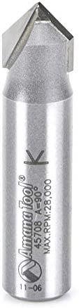 2021 Amana Tool - 45708 Carbide Tipped V-Groove 90 Deg outlet sale x outlet sale 1/2 Dia x 1/2 Shank online sale