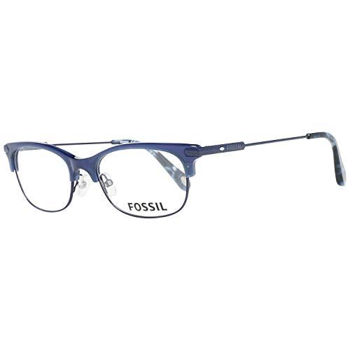 Fossil Brillengestelle FOS 6055 Rund Brillengestelle 50, Blau