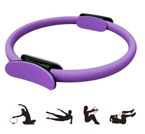 Magic Fitness Circle, equipo de resistencia al ejercicio, anillo de yoga Pilates de doble asa, anillo de entrenamiento de resistencia para tonificar y esculpir los muslos internos y externos