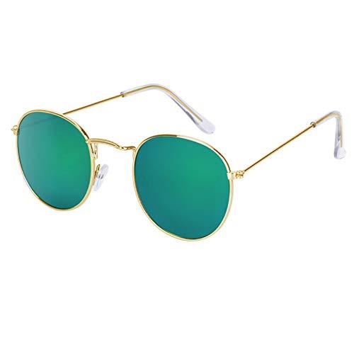 QYV Gafas de Sol ovaladas Vintage para Mujer, Lentes Transparentes Retro, Gafas de Sol Redondas,C7