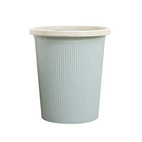 POUYTT Trash Bin Bedroom Trash Can Kitchen Trash Can Home Creative Round No Cover Simple Trash Can Plastic Material - Size -23.5x25 X16.5cm Fits For Most Families (Color : B)