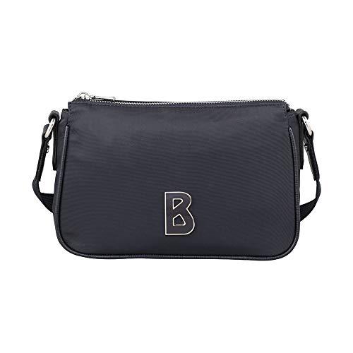 Bogner Damen Davos Cleo Shoulderbag Shz Schultertasche, Blau (Dark Blue), 7x14x23 cm