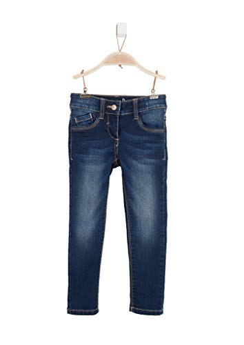 s.Oliver RED LABEL Mädchen Regular Fit: Slim leg-Denim mit Waschung dark blue sretched 110.SLIM