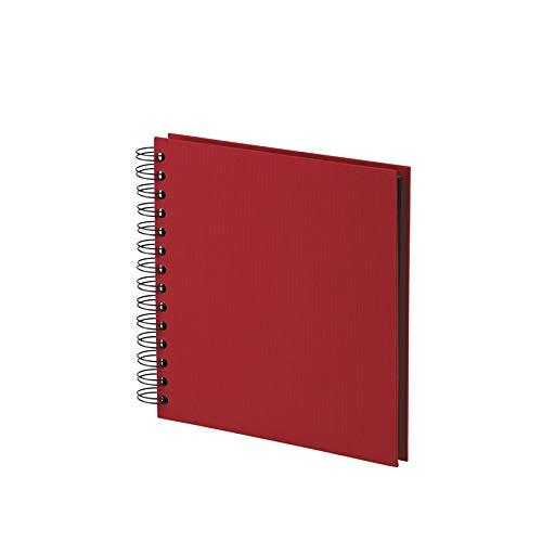 Rössler Soho - Álbum de fotos con espiral (180 x 180mm, 60 hojas), color rojo