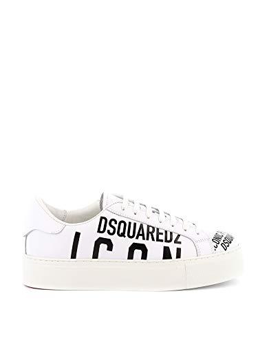 DSQUARED2 - Zapatillas Deportivas Blancas con Texto Negro Size: 40 EU
