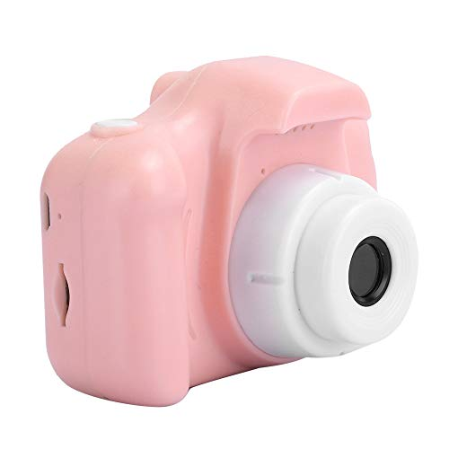 Hilitand Photography Camera, Sports Camera, Camera Toy, Cartoon with Lanyard, Camera, Small USB for Children of All Ages,(Pink-Pure Edition)