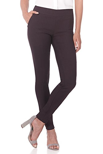 Rekucci Women's Ease into Comfort Modern Stretch Skinny Pant with Tummy Control (4,Cassis)