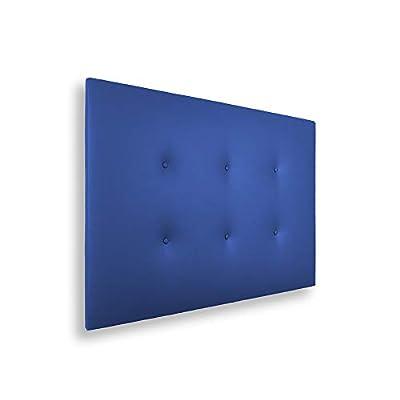 🛌 CARLO - Cabecero con una estructura de madera y tapizado en polipiel con dos hileras de botones, dándole un toque juvenil y moderno. 🛌 ESPECIFICACIONES - Cabecero de color azul. Medidas: 115x5x50 cm. 🛌 TRANSPIRABLE - La parte trasera contiene un te...