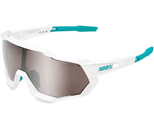 Ride100percent SPEEDTRAP-Bora Hans Grohe Team White-Hiper Silver Mirror Lens, Adultos Unisex, Blanco, ESTANDAR