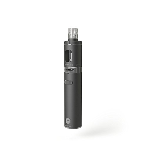 LYNDEN® NOW 2.0 E Zigarette Starterset   Topfill   15W - 25W   2ml Tank   e Shisha Starterset   Elektronische Zigarette (Silber)