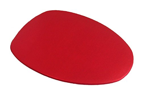 Special Shiny Edition of Fabric Cover for a lid Toilet SEAT for Round & Elongated Models - Handmade in USA (Red Bright)