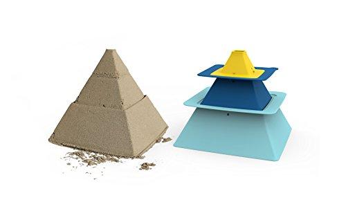 Quut- Pira QU170761 - Juego de construcción de pirámide (Azul páltico/Azul Intenso y Amarillo limón)