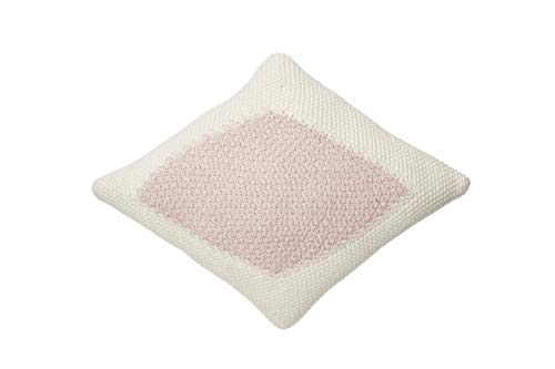Lorena Canals - Cojín de Punto Candy Vanilla-Pink - Vainilla, Perla Rosa - Cubierta: 100% algodón/Relleno: 100% poliéster - 30x40 cm